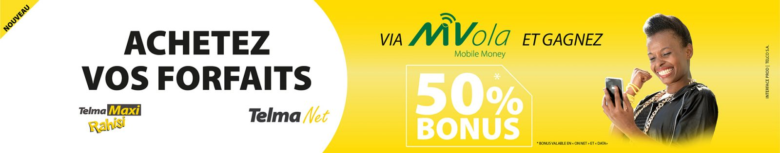 Bonus achat offre via MVola